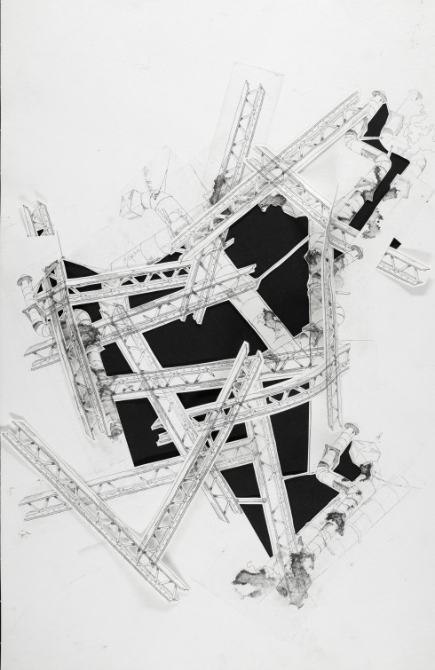 Beams IV : Multiplate intaglio and papercut
